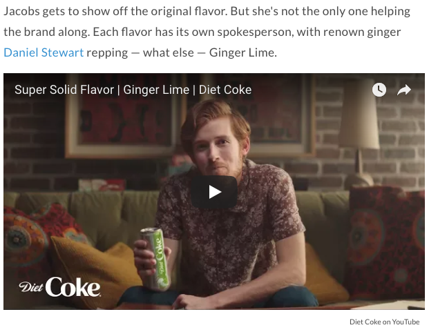 Daniel Stewart Diet Coke SUPERBOWL Commercial